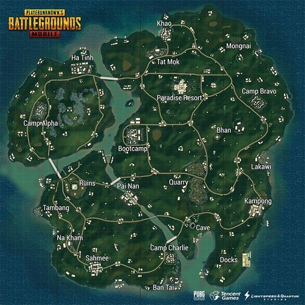 The Sanhok map