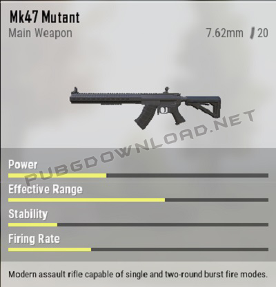 Weapon in PUBG Lite