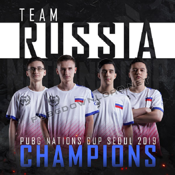 Rusia Team PUBG Nations Cup 2019: Champion