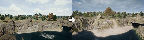 Various terrain changes