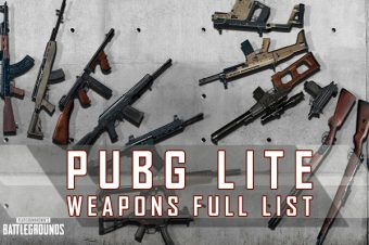PUBG Lite Weapons Full List