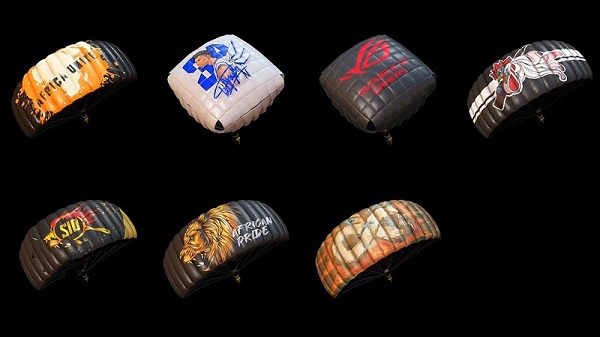 Skins for parachute