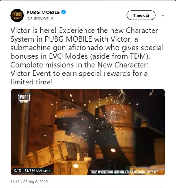Victor For Free In PUBG Mobile
