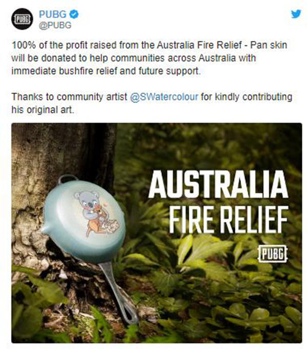 PUBG Raises Funds To Support Australia With A Limited
