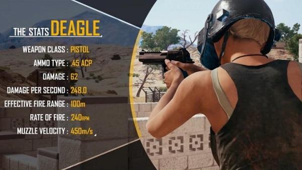 The basics of PUBG Mobile Desert Eagle