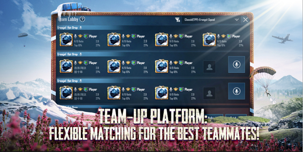 New features for Team-up Lobby