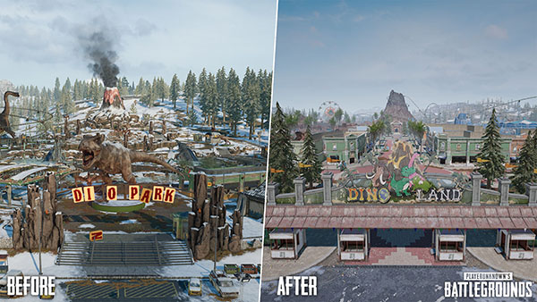 Dinoland in PUBG PC 7.1 is now used as an alternative to Dino Park.